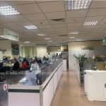 Setup vách ngăn văn phòng ngân hàng Vietcombank Hà Nội